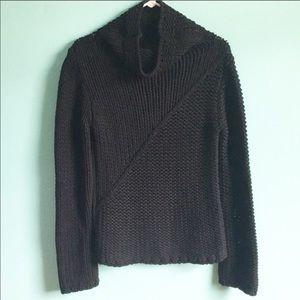 Black banana republic sweater asymmetrical design